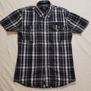 Harley Davidson Mens M Plaid Short Sleeve Shirt